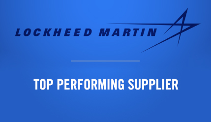 kSARIA Lockheed Martin Top Performing Supplier Award