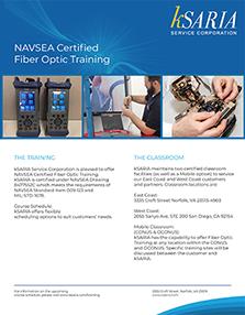 kSARIA Services Fiber Optic Training